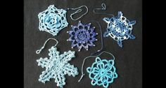 coccarde natalizie - christmas decoration crochet - snowflake and star