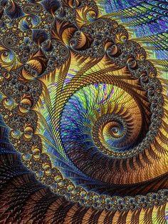 Complex Spiral - fractal art. More