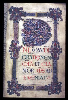 Decorated initial from an 11th century psalter, Winchester  From the British Library. No restrictions