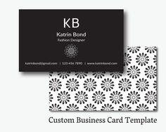 Business Card Template, Calling Cards, Custom Business Cards, Unique Business Card Template, Business Card Design, Black Business Cards