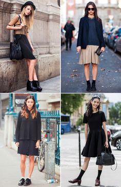 107 #StreetStyle Inspirations for Styling a Midi Skirt by @monoco . Vintage #streetstyle #Fashion #fashionstyle #style #Looks #ootd
