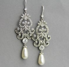 Silver earings | Wedding Inspirations | Pinterest | Prom ...