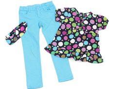 Knallig schöne #GAP Jeans und Tunikabluse in Gr. 110-116.