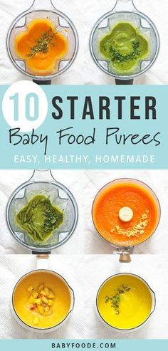 10 Super Starter Baby Food Recipes (plus FREE ebook!) Baby is going to love these 10 stage one starter purees! They're easy to make and easy to eat! Enjoy 10 of my baby's favorite starter puree recipes, plus tips and an entire starters guide to get you in Baby Puree Recipes, Pureed Food Recipes, Baby Food Recipes, Free Recipes, Baby Food Puree, Squash Baby Food Recipe, Squash Food, Kitchen Recipes, Easy Recipes