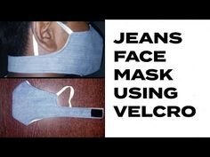 How to make a face mask using jeans | reusable face mask | - YouTube