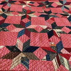 I love a scrappy antique quilt!!! #antiquequilt