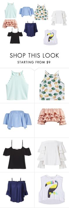 """""""Horace Somnusson (Tops)"""" by elenahimekirari ❤ liked on Polyvore featuring Boohoo, Exclusive for Intermix and LE3NO"""