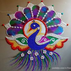 Art Article- Why Poonam Borkar is Best Rangoli Artist and her Best Rangolies for Diwali Easy Rangoli Designs Videos, Easy Rangoli Designs Diwali, Simple Rangoli Designs Images, Rangoli Designs Latest, Rangoli Designs Flower, Free Hand Rangoli Design, Rangoli Border Designs, Rangoli Ideas, Rangoli Designs With Dots