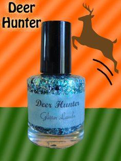 Deer Hunter:Glitter Nail Polish Lacquer- Indie Nail Polish Custom Handmade Glitter Topper