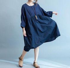 Oscuras azules / vino rojo oversize mujeres largo por MaLieb