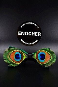 Green Velvet Peacock Feather BowTie,Men BowTie,BowTie,Bow Tie For Men,Gentleman,Business,Wedding,Party,Gift,Fashion,Cool,Personality,Feather. Like the peacock's eyes, full of personality. For you to add more charm. You deserve to have. Bow tie is becoming more a popular accessory. makes your look unique, because every bow tie has its own special color and texture that will differentiate it from each other, which will give each product its exclusivity. ENOCHER bow tie is a perfect gift for...