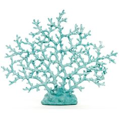 Blue Coral Decor (3 780 UAH) ❤ liked on Polyvore featuring home, home decor, decor, fillers, & - fillers - misc., home items, coral home decor, coastal home decor, coral sculpture and blue home accessories