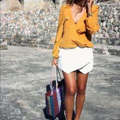 White skort Zara white skort Zara Shorts Skorts