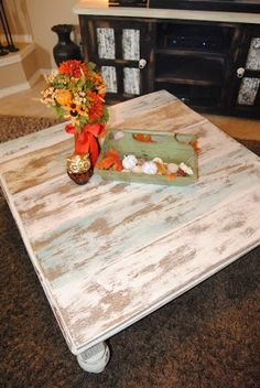 Sew Much More than Rubies: New Coffee Table, Reclaimed Barn Wood Look