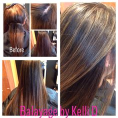 A new client came in wanting a color correction to remove the orange tones in the hair. 4 hours later, 5 bowls of color we have a beautiful chocolate with caramel #balayage  #hairbykellid #portlandoregon #hairstylist #colorcorrection