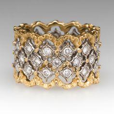 Buccellati+Eternelle+Openwork+Ring+1CTW+Diamonds