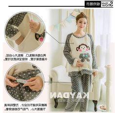 29.63$  Buy here - https://alitems.com/g/1e8d114494b01f4c715516525dc3e8/?i=5&ulp=https%3A%2F%2Fwww.aliexpress.com%2Fitem%2FXXXXL-sleepwear-Maternity-pajamas-dress-Clothes-for-Pregnant-Women-Sleeping-Lounge-lactation-clothing-winter-Breastfeeding%2F32783899793.html - XXXXL sleepwear Maternity pajamas dress Clothes for Pregnant Women Sleeping Lounge lactation clothing winter Breastfeeding