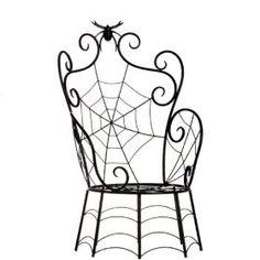 Black Spider & Spider Web Chair