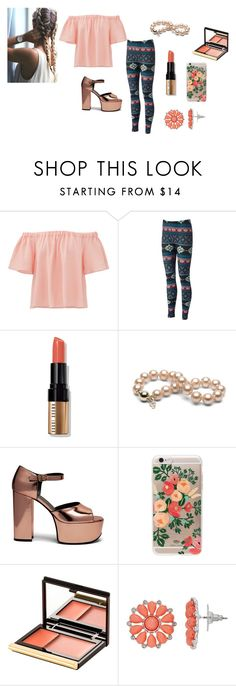 """""""flower outfit"""" by cupcakefriend11 ❤ liked on Polyvore featuring Rebecca Taylor, Bobbi Brown Cosmetics, Mulberry, Rifle Paper Co and Kevyn Aucoin"""