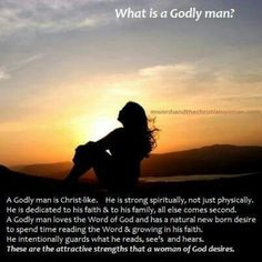 what is a godly man