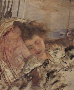 Henri Gervex | Mme Gervex endomrmie, vers 1898