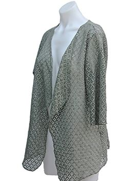 d58119760e Women s Girls Sheer Crochet Style Lace Open Duster Cardigan -- Find out  more about
