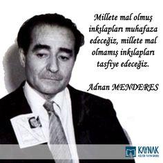 Yaptığı hizmetlerle milletimizin gönlüne taht kurmuş merhum başbakanlarımızdan Adnan Menderes Beyefendi'yi vefatının 53. yıldönümünde dualarla yad ediyoruz. #adnanmenderes #kitapkaynagi #basbakan #taziye #merhum #idam #demokrasi