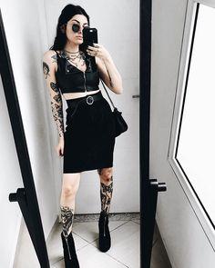 Punk Outfits, Grunge Outfits, Crazy Outfits, Trendy Outfits, Alternative Outfits, Alternative Fashion, Grunge Style, Dark Fashion, Boho Fashion