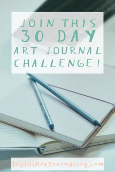 If you want to do more art journaling with prompts and a comminity, join this 30 Day Art Journal Challenge! 30 Day Art Challenge, Art Journal Challenge, Art Journal Prompts, Art Journal Techniques, Art Journal Pages, Art Journaling, Journal Ideas, Creative Class, Art Journal Inspiration