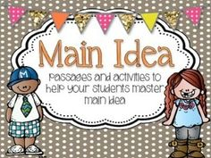 Main Idea and Details {activities and task cards} from Mrs A on TeachersNotebook.com -  (48 pages)  - Main Idea and Details {activities and task cards}