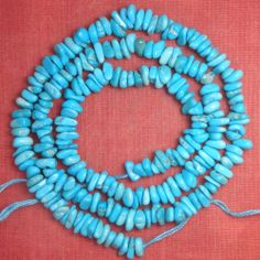 Sleeping Beauty Turquoise Chip Beads Natural Blue Color 18 Inch Strand  Lot #224