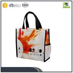 Custom Promotional Shopping Tote Fabric Polypropylene Laminated PP Non Woven Bag