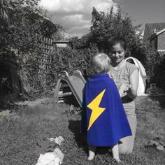 Super Elijah just received his TinySuperheroes cape! Welcome to The Squad! #CHD