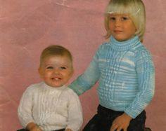 Baby Sweater Pattern,Child Sweater,QK Pattern,Roll Neck Sweater,PDF Knitting Pattern,Instant Download,Baby Knit Pattern,Vintage Knit Pattern - Edit Listing - Etsy