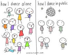 yep. that's pretty much how it always is at dances, haha.