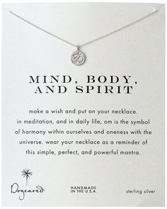 Dogeared Reminder 'Mind, Body, and Spirit' Sterling Silver Om Pendant Necklace * Check this awesome product by going to the link at the image.