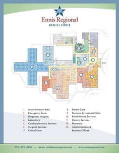 Hospital Floorplan | Ennis Regional Medical Center