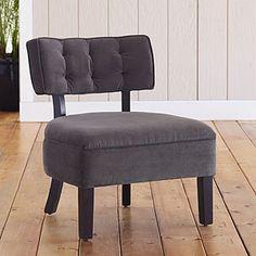 Logan Armless Chairs, Charcoal  SKU #433199    $179.99