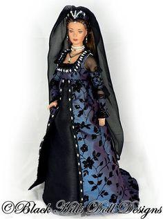 Renaissance Gown Black Hills Doll Designs