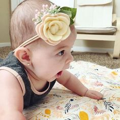"31 Likes, 3 Comments - Wicked Littles Handmade (@wickedlittles_handmade) on Instagram: ""Love, love, love this headband! ❤ - and look at her little yawn and her little earrings """