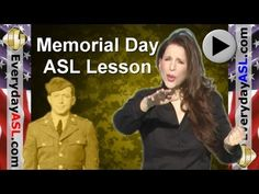 Memorial Day - Sign Language Vocabulary and Idiom Lesson
