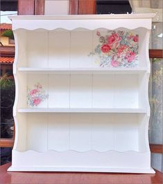 Vera Vintage on Rack with Shabby White Decoupage Technic. for booking order : BBM :  leatique Line : leatique WA : 081234503084