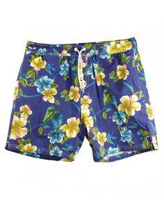 Scotch & Soda Blue Floral Swim Shorts 84256