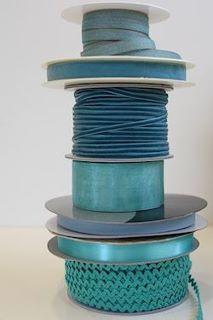 Terrific Teal, lovely ribbons!