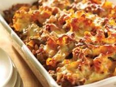 Hamburger Casserole-  Classic recipe. Delicious, quick & easy meal to prepare after a busy day. I serve with a green salad and garlic toast.