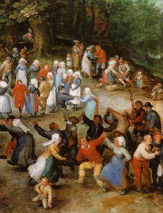Jan Bruegel d. Ä., Das Dorffest, Ausschnitt (Jan Bruegel the Elder, A Flemish Fair, detail)