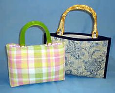 Purses made out of a placemat. Come on girls use your imaginations, possibilities are endless. Don't forget to check out the drapery section for embelishments. Pretty easy to do