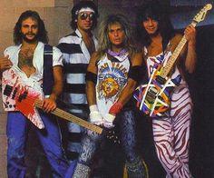Van Halen with David Lee Roth belting out the vocals - surprisingly Jump was their only number one hit . Alex Van Halen, Eddie Van Halen, Sound Of Music, My Music, Van Halen 5150, Billy Sheehan, Hair Metal Bands, Hair Bands, David Lee Roth