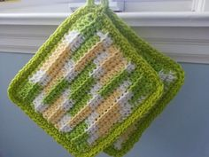 Modern Grace Design: Free Pattern :: Easy Ribbed Hot Pad