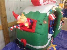Gemmy Used Christmas Santa Rv Inflatable Airblown